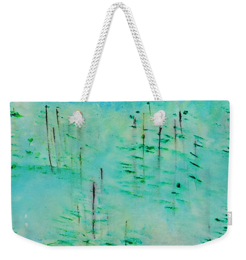 Outdoors Weekender Tote Bag featuring the painting Vancouver Island by Paulette B Wright