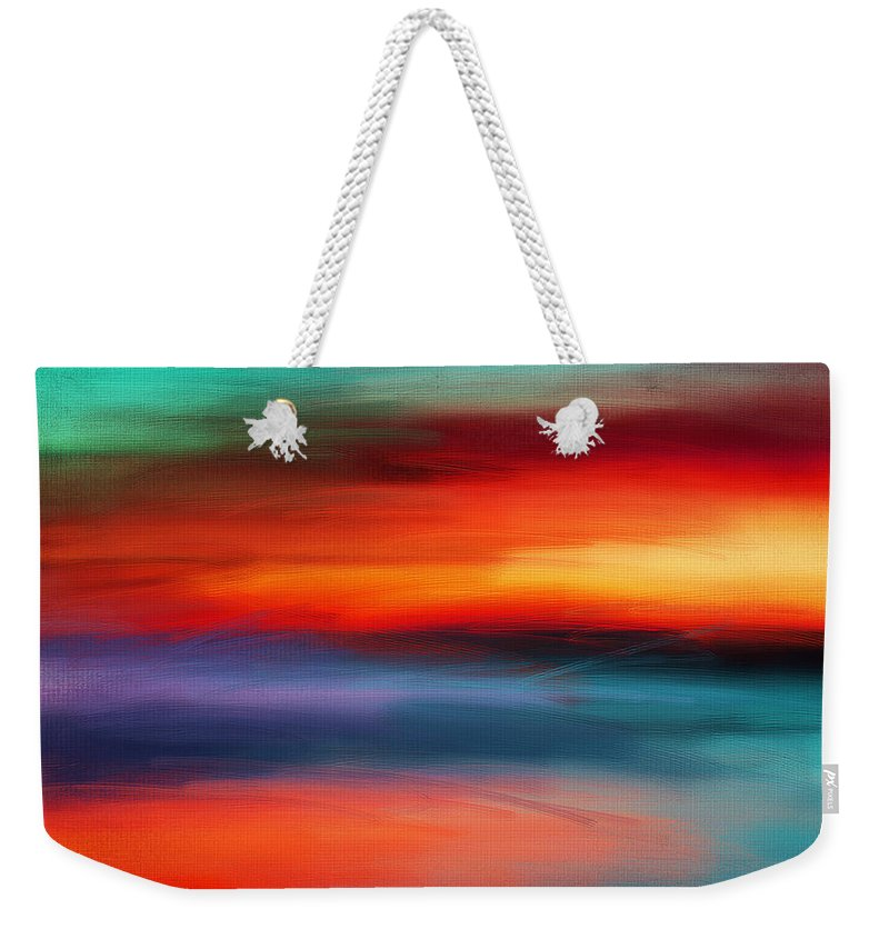 Seascapes Abstract Weekender Tote Bag featuring the digital art Vanity Of Its Rays by Lourry Legarde