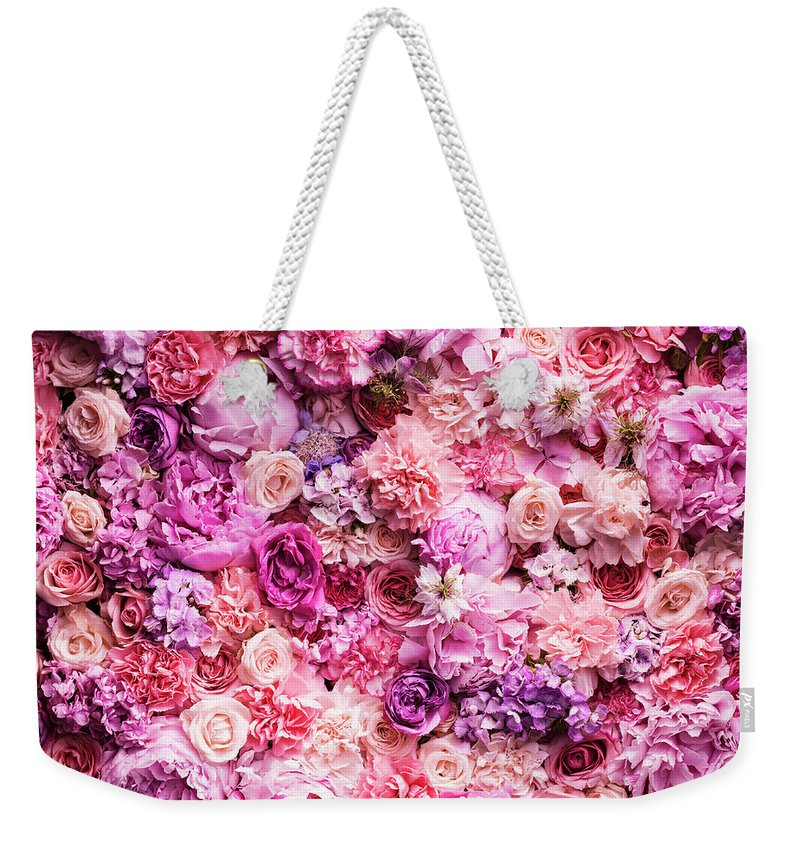 Tranquility Weekender Tote Bag featuring the photograph Various Cut Flowers, Detail by Jonathan Knowles