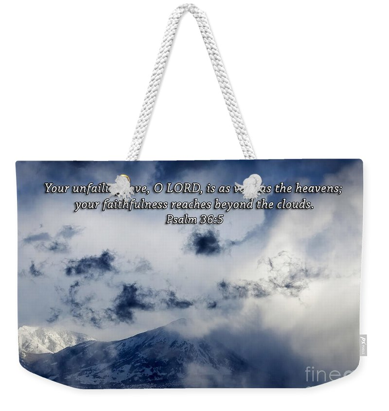 Rock Weekender Tote Bag featuring the photograph Vast As The Heavens by Janice Pariza