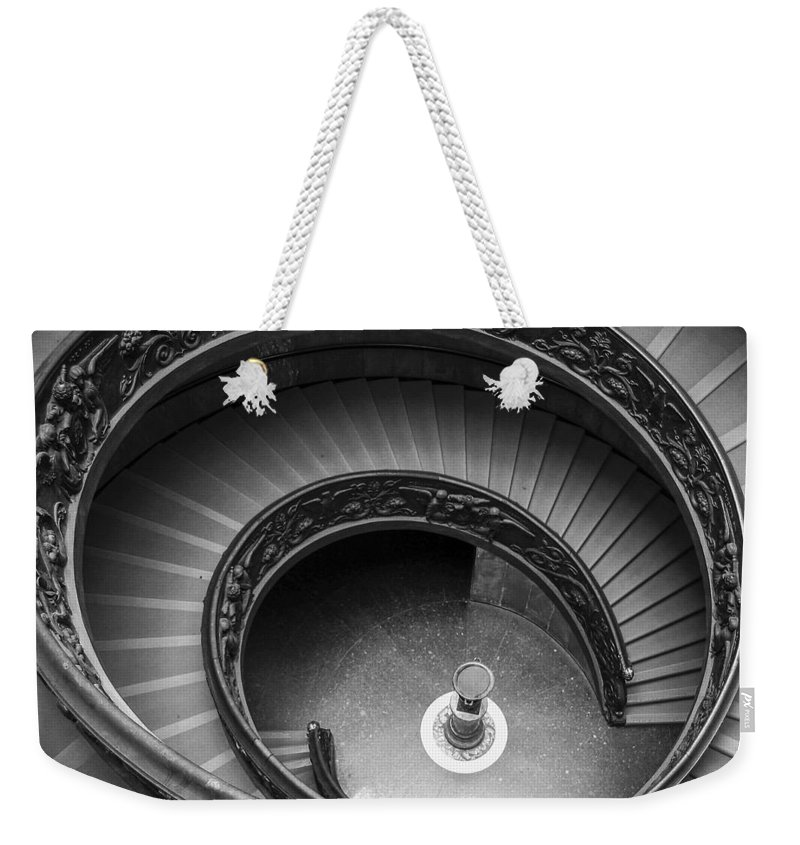 3scape Photos Weekender Tote Bag featuring the photograph Vatican Stairs by Adam Romanowicz