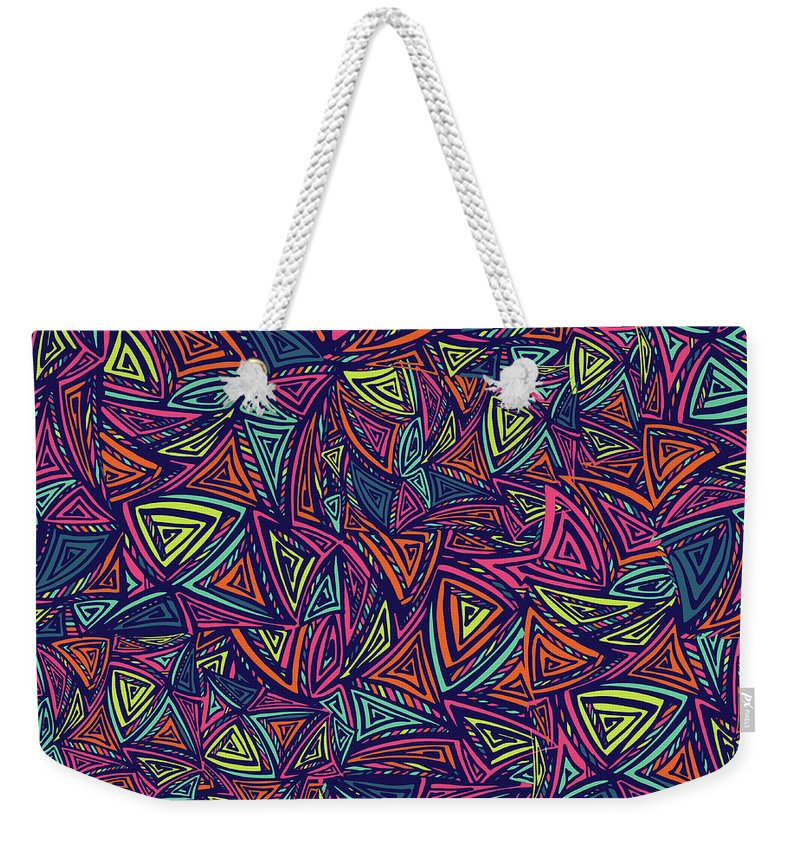 Cool Attitude Weekender Tote Bag featuring the digital art Vector Colorful Seamless Pattern With by Tatiana kost