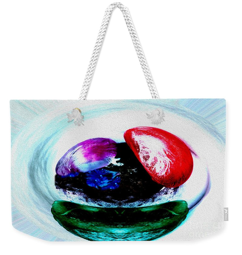 Abstract Weekender Tote Bag featuring the photograph Vegetables And Gemstones by Nina Silver