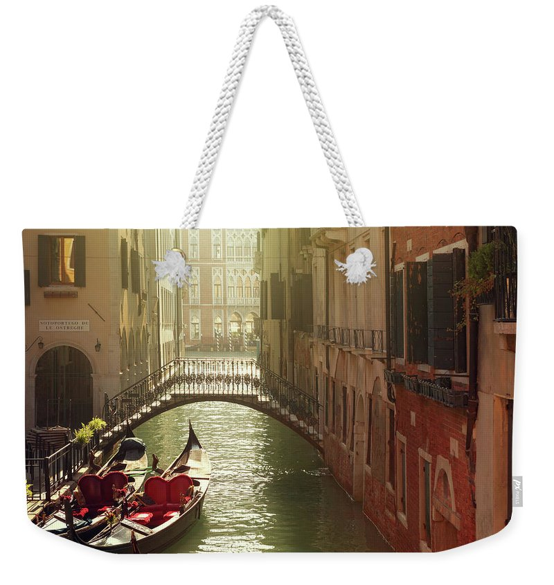 Veneto Weekender Tote Bag featuring the photograph Venetian Canal by Mammuth