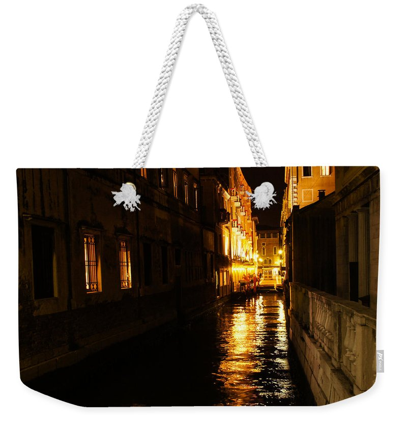 Georgia Mizuleva Weekender Tote Bag featuring the photograph Venetian Golden Glow by Georgia Mizuleva