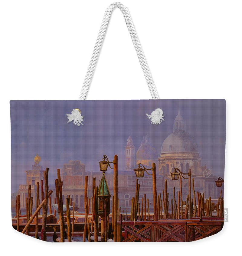 Venice Weekender Tote Bag featuring the painting Venezia E La Nebbia by Guido Borelli