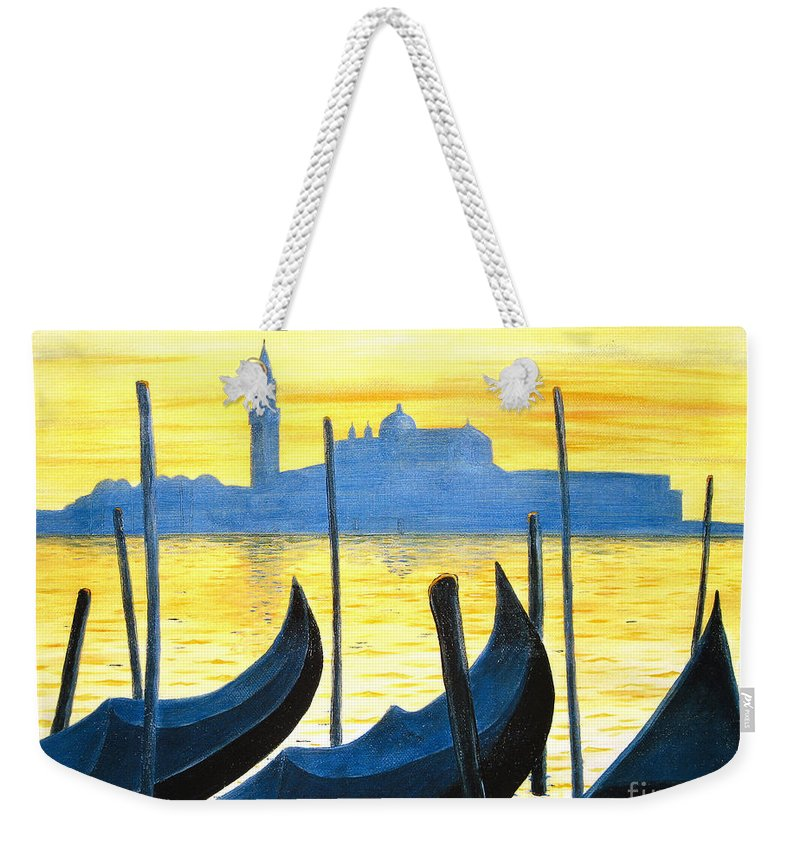 Venice Weekender Tote Bag featuring the painting Venezia Venice Italy by Jerome Stumphauzer