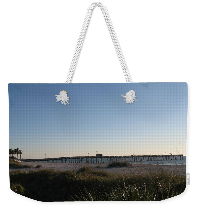 Pier Weekender Tote Bag featuring the photograph Venice Beach Pier by Christiane Schulze Art And Photography