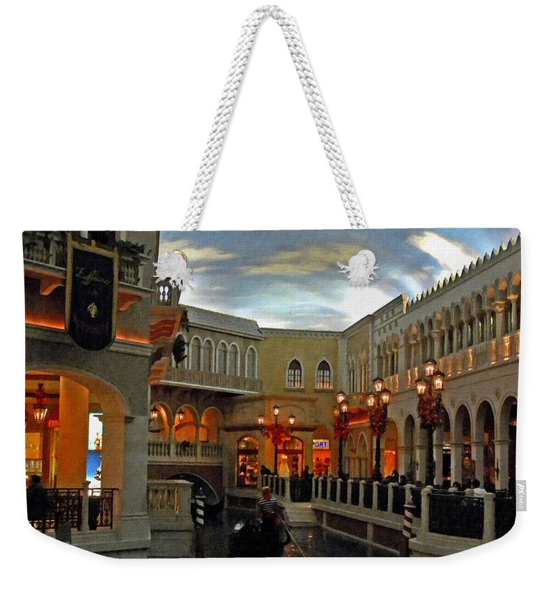 Gondola Weekender Tote Bag featuring the photograph Venice by Frank Wilson