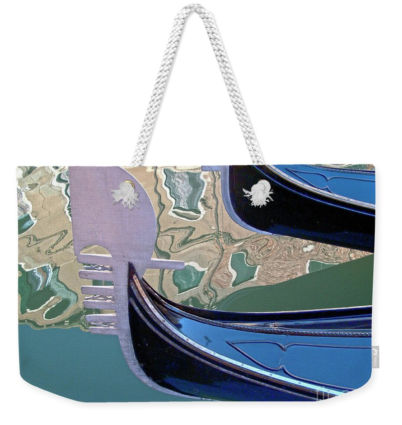 Venice Weekender Tote Bag featuring the photograph Venice Gondolas by Heiko Koehrer-Wagner