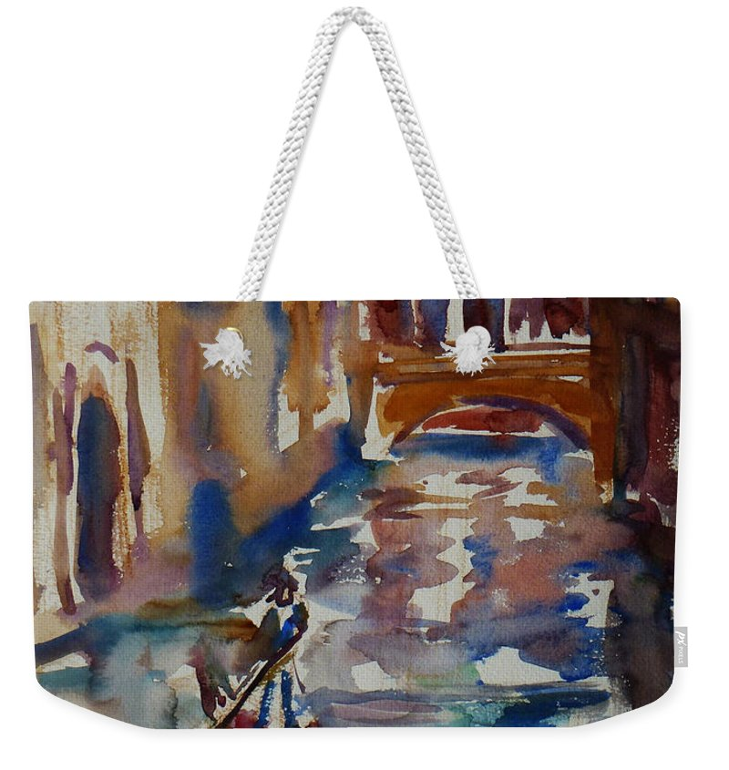 Venice Impression Weekender Tote Bag featuring the painting Venice Impression V by Xueling Zou