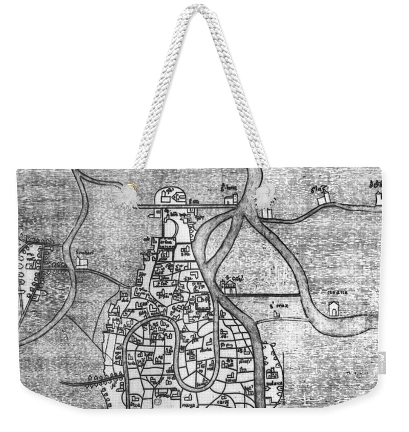 12th Century Weekender Tote Bag featuring the photograph Venice: Map, 12th Century by Granger