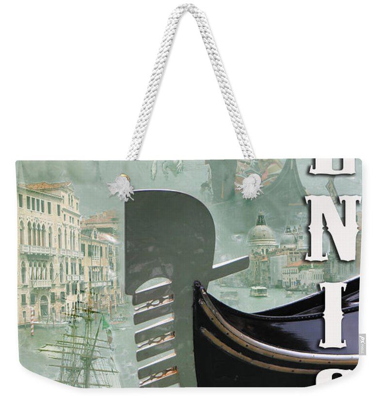 Venice Weekender Tote Bag featuring the photograph Venice Montage 2 by Andrew Fare