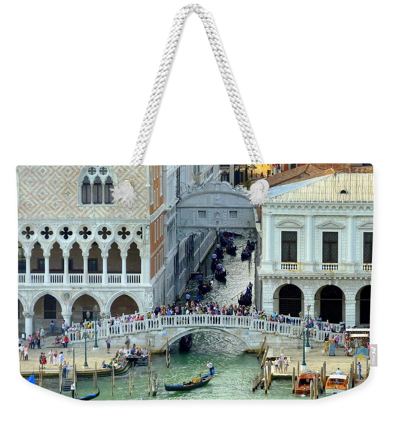 Venice Weekender Tote Bag featuring the photograph Venice's Bridge Of Sighs by Carla Parris