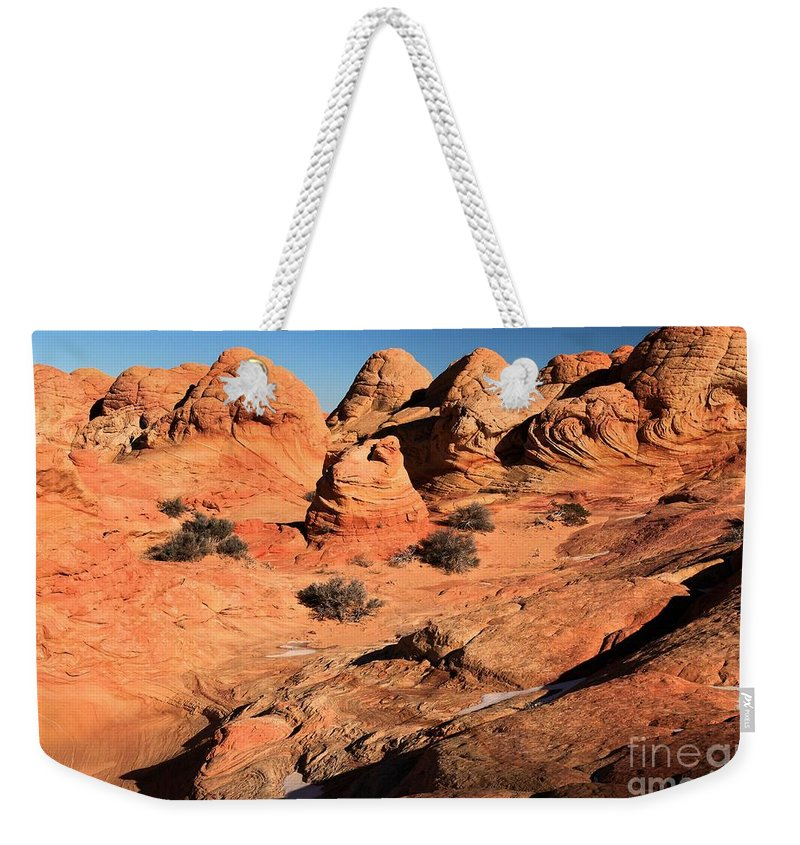 The Wave Weekender Tote Bag featuring the photograph Vermilion Landscape by Adam Jewell