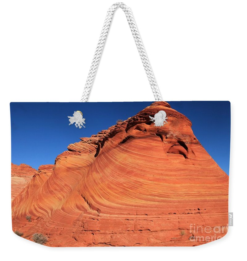 The Wave Weekender Tote Bag featuring the photograph Vermilion Mounds by Adam Jewell