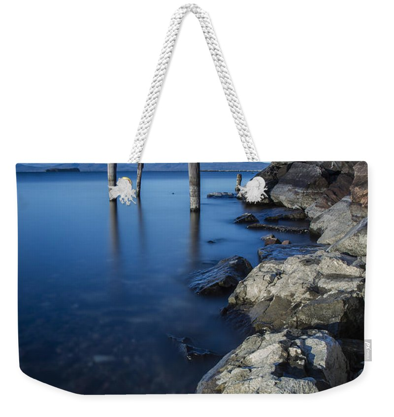Vermont Weekender Tote Bag featuring the photograph Vermont Lake Champlain Sunrise Burlington by Andy Gimino