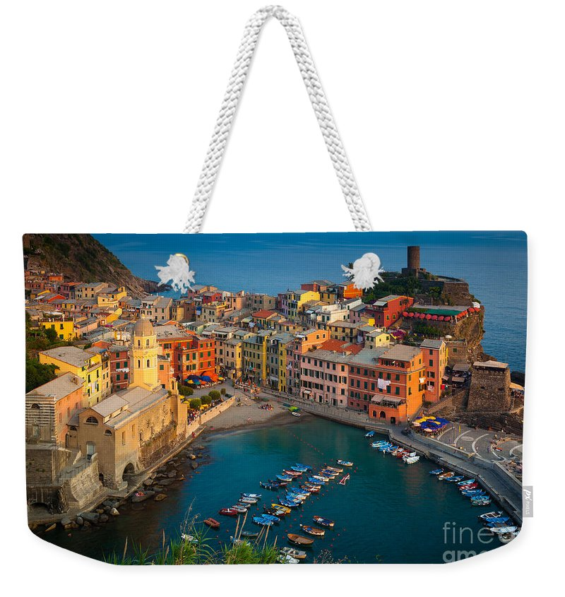 Cinque Terre Weekender Tote Bag featuring the photograph Vernazza Pomeriggio by Inge Johnsson