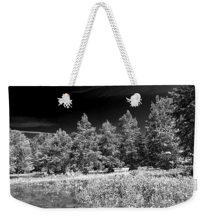 Vernon Lake Weekender Tote Bag featuring the photograph Vernon Lake Five by Ken Frischkorn