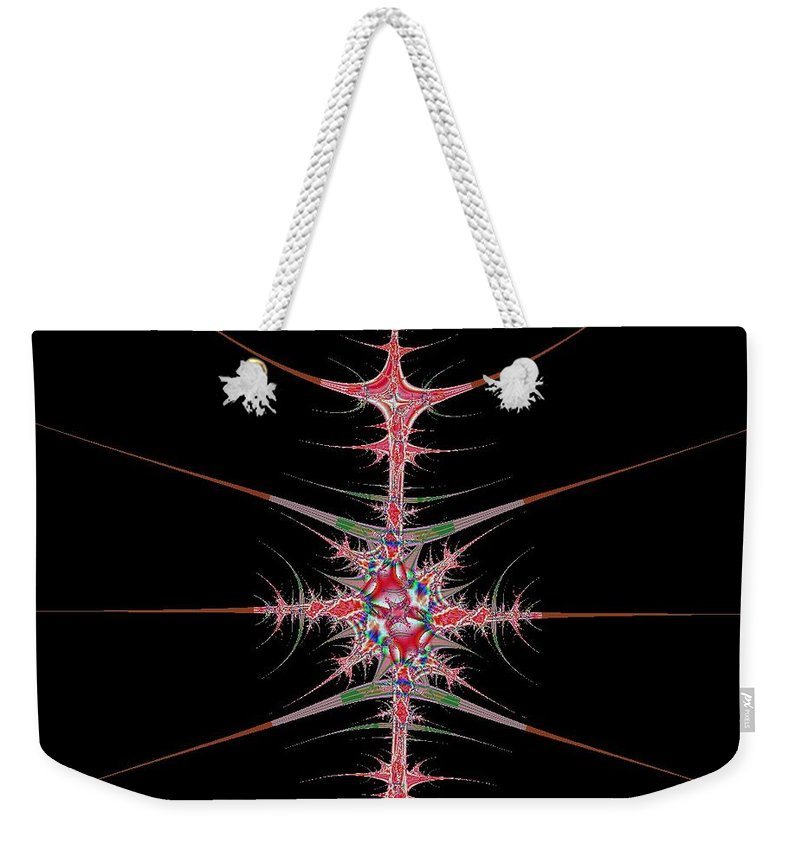 Digital Art Weekender Tote Bag featuring the digital art Vertebrae by Dragica Micki Fortuna