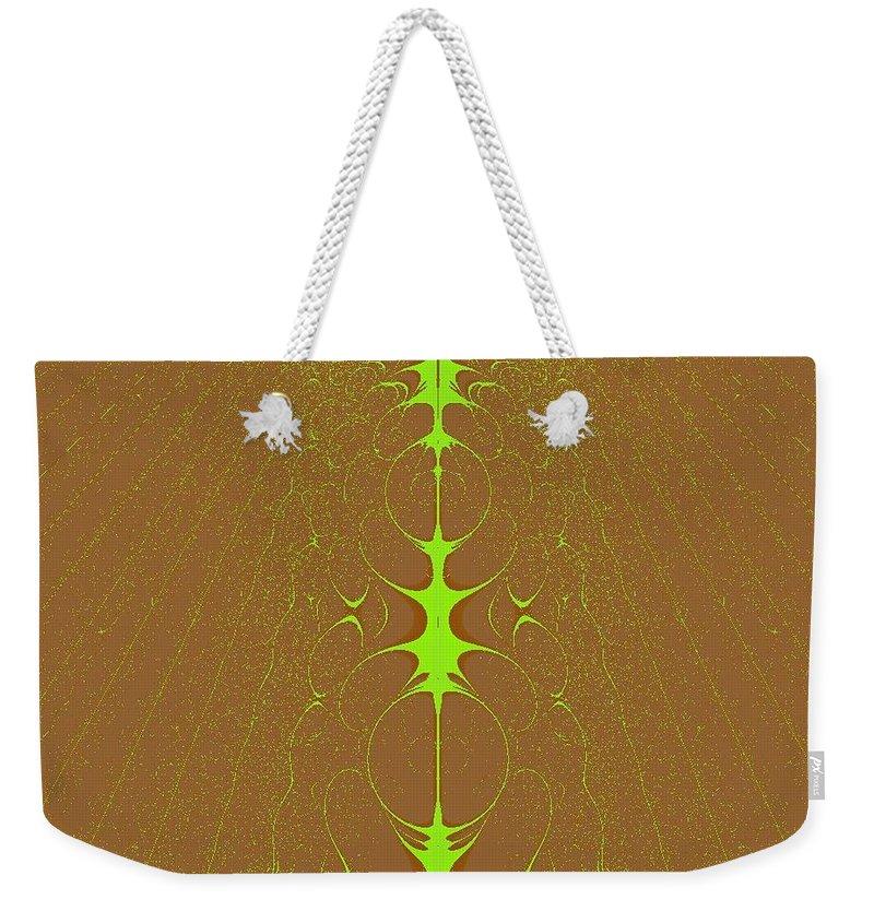 Digital Art Weekender Tote Bag featuring the digital art Vertebrae II by Dragica Micki Fortuna