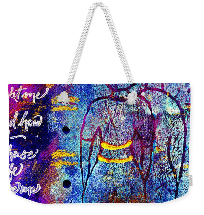 Woman Weekender Tote Bag featuring the mixed media Very Close Friends by Angela L Walker