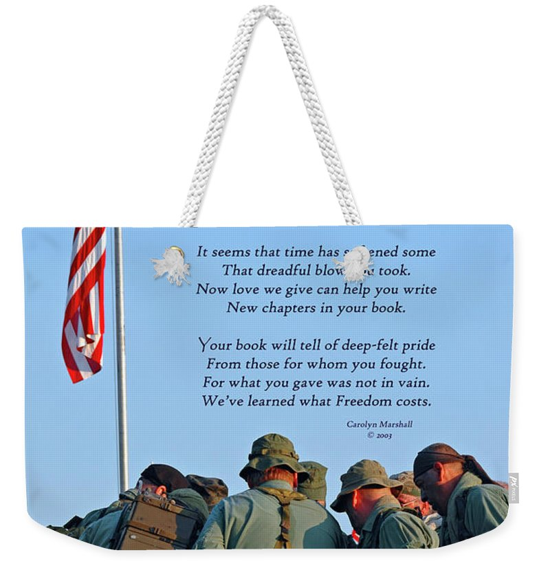 Veterans Weekender Tote Bag featuring the photograph Veterans Remember by Carolyn Marshall