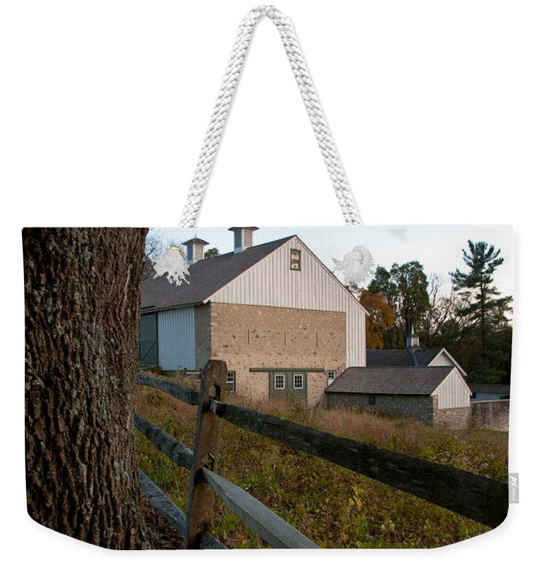 Barn Weekender Tote Bag featuring the photograph Vf Farmstead by Scott Hafer