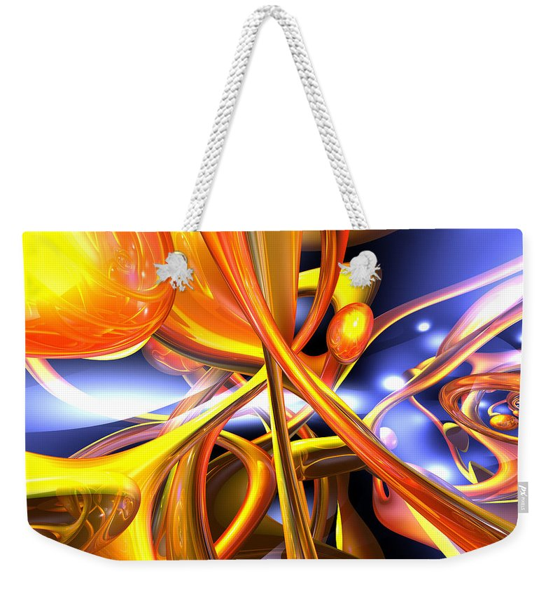 3d Weekender Tote Bag featuring the digital art Vibrant Love Abstract by Alexander Butler