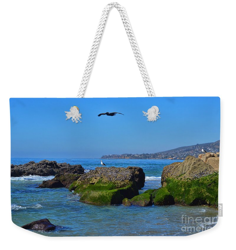 Tower Weekender Tote Bag featuring the photograph Victoria Beach by Tommy Anderson