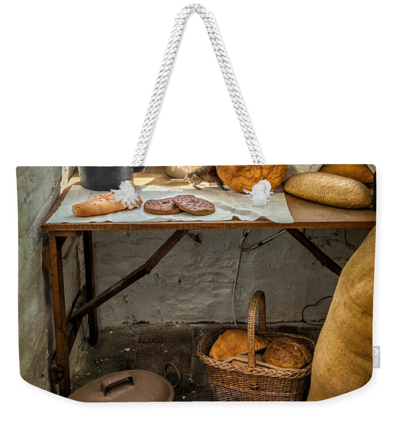 British Weekender Tote Bag featuring the photograph Victorian Bakers by Adrian Evans