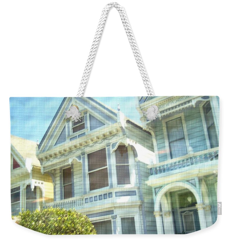 Victorians Weekender Tote Bag featuring the photograph Victorian Cloth by Pharris Art