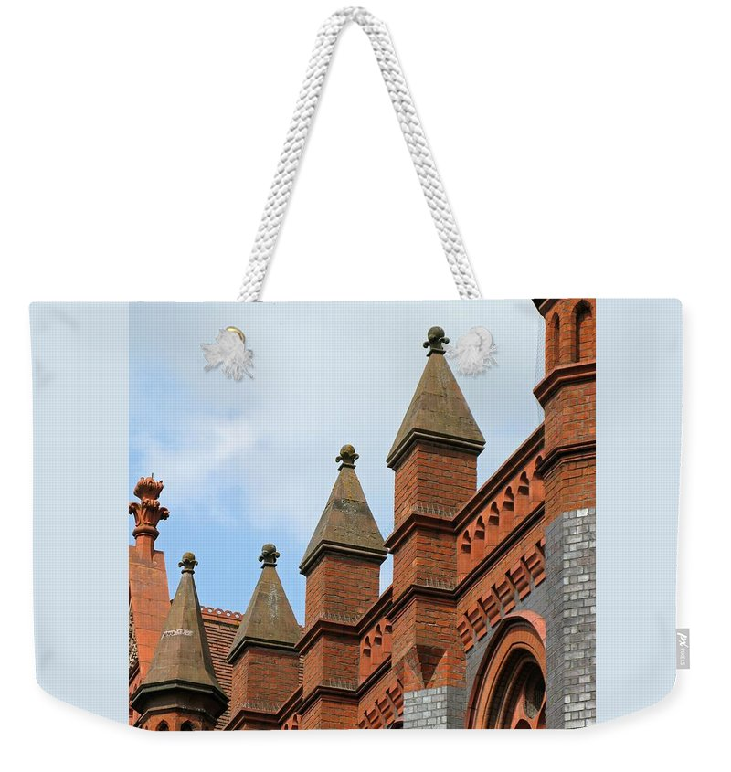 Victorian Weekender Tote Bag featuring the photograph Victorian Orange by Ann Horn