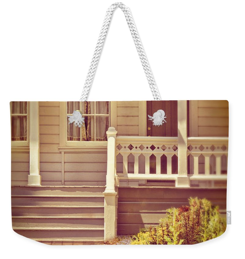 Porch Weekender Tote Bag featuring the photograph Victorian Porch by Jill Battaglia
