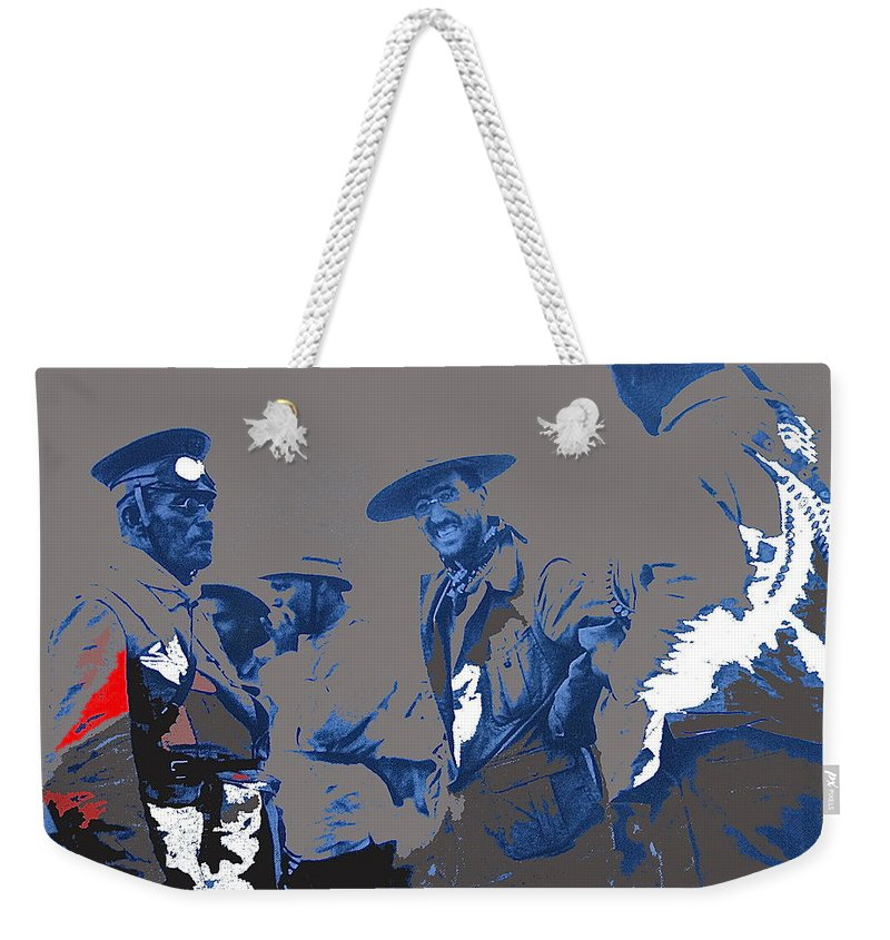 Victoriano Huerta Weekender Tote Bag featuring the photograph Victoriano Huerta Emilio Madero And Pancho Villa On The Right Ciudad Chihuahua May 1912-2014 by David Lee Guss