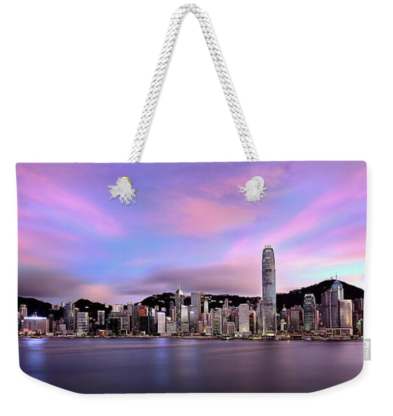 Tranquility Weekender Tote Bag featuring the photograph Victoric Harbour, Hong Kong, 2013 by Joe Chen Photography