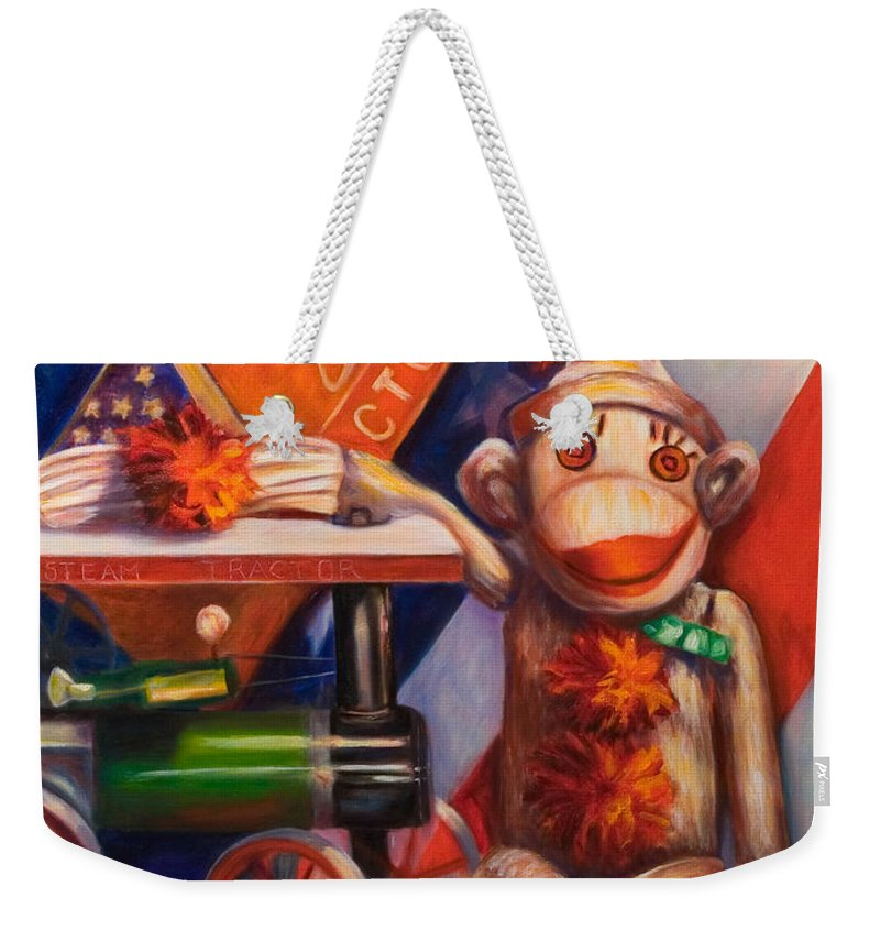4th Of July Weekender Tote Bag featuring the painting Victory by Shannon Grissom