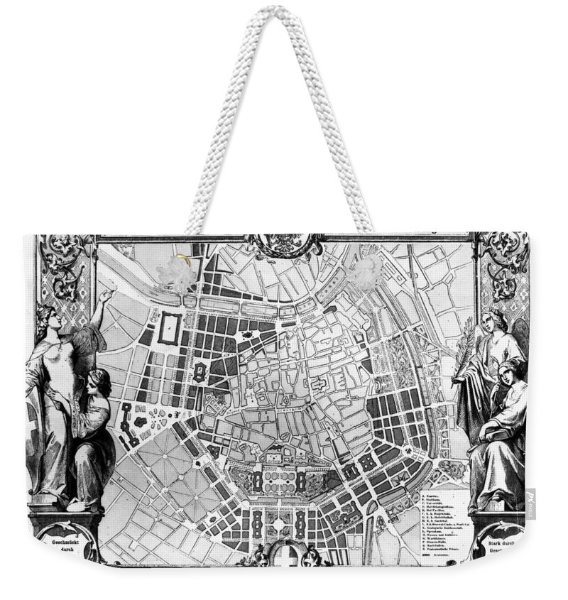 1860 Weekender Tote Bag featuring the photograph Vienna: Plan, 1860 by Granger