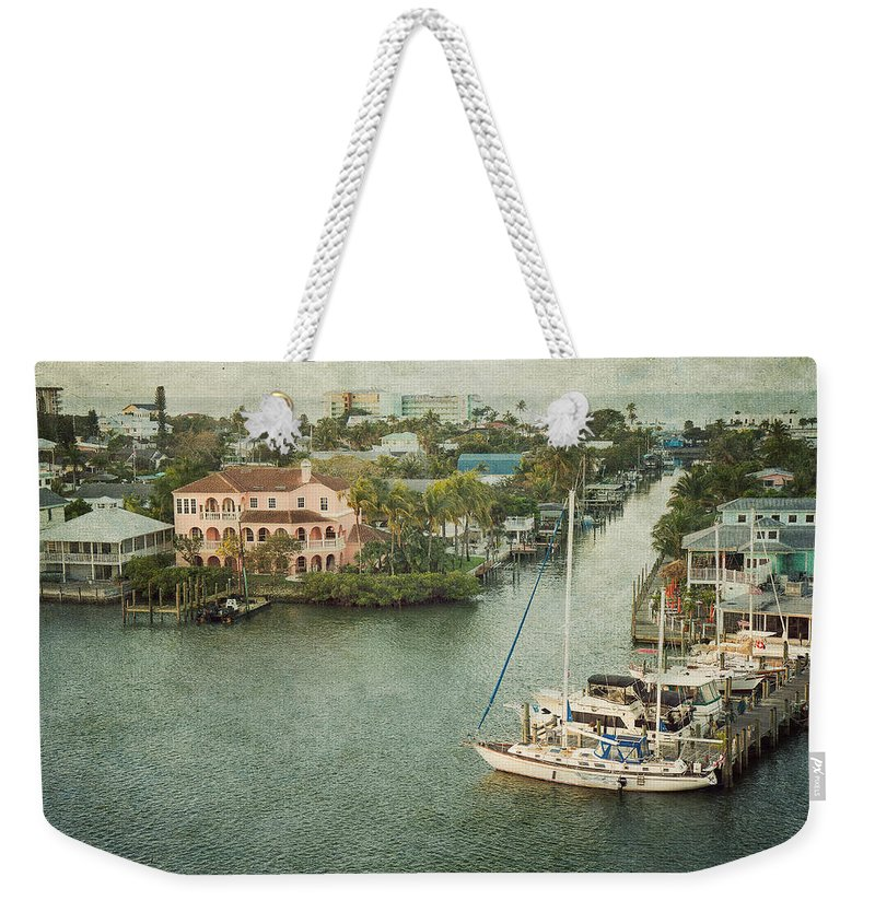 Fort Myers Beach Weekender Tote Bag featuring the photograph View At Fort Myers Beach - Florida by Kim Hojnacki