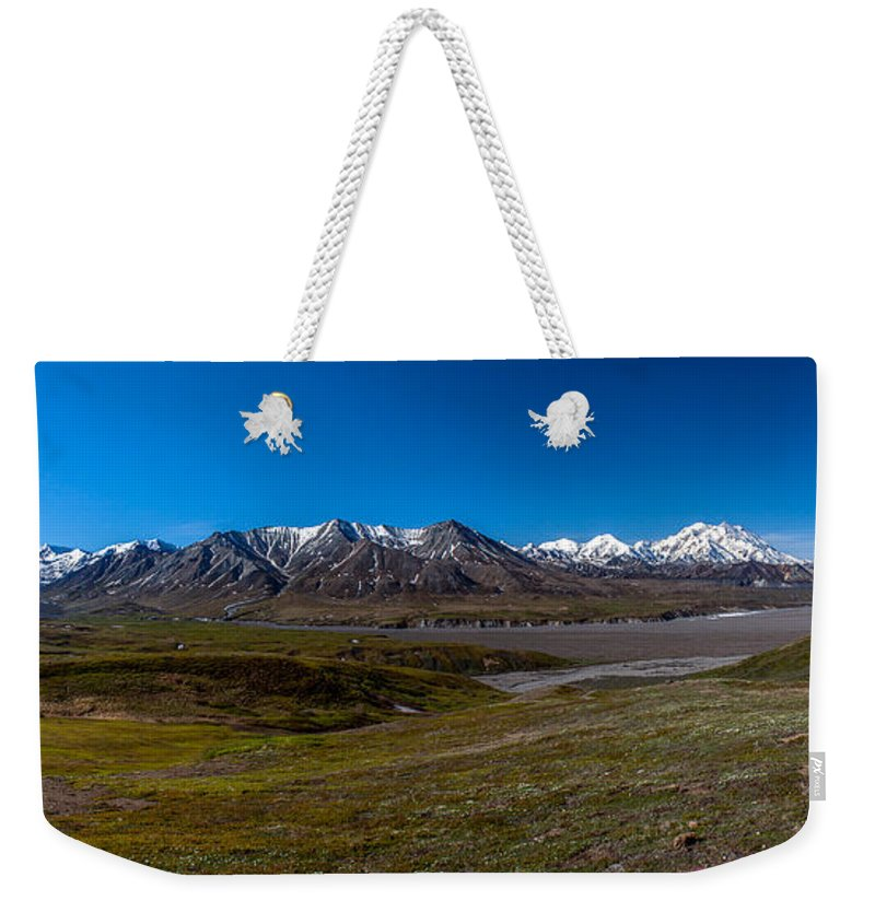 Eielson Weekender Tote Bag featuring the photograph View From Eielson by Thomas Sellberg