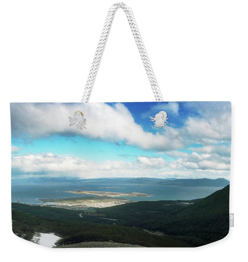 Photography Weekender Tote Bag featuring the photograph View From Martial Glacier, Ushuaia by Panoramic Images