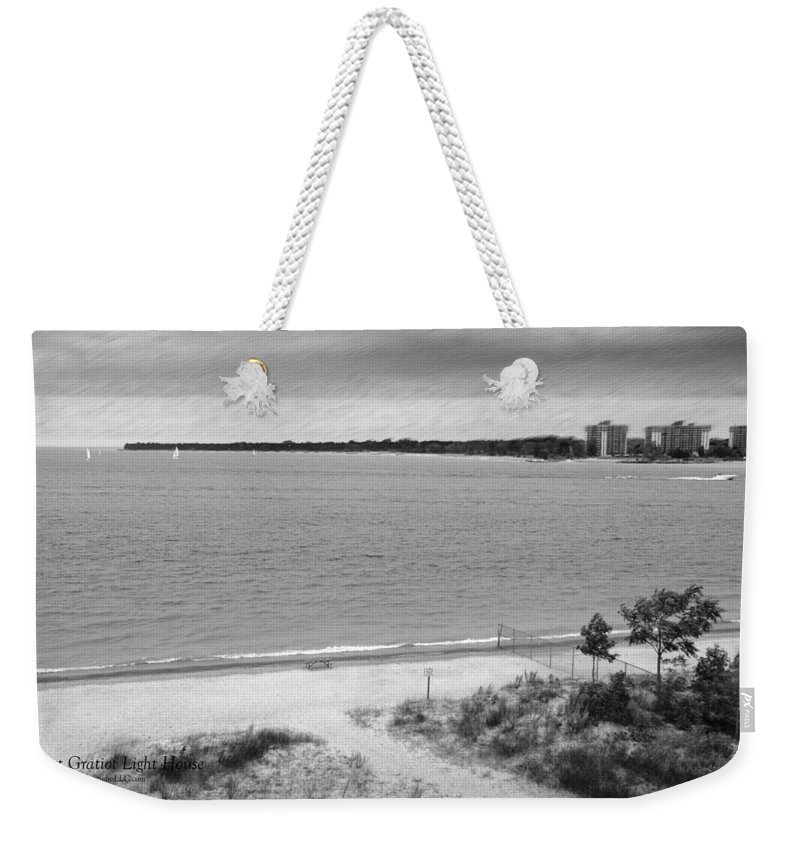 Usa Weekender Tote Bag featuring the photograph View From The Fort Gratiot Light House by LeeAnn McLaneGoetz McLaneGoetzStudioLLCcom