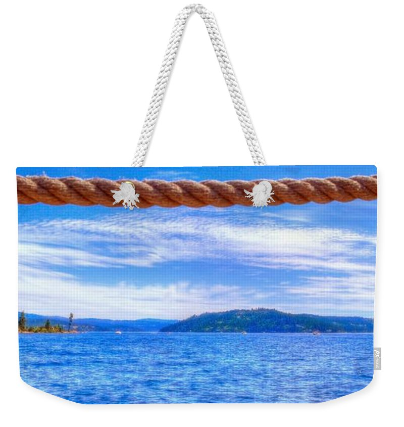Northern Weekender Tote Bag featuring the photograph View From The Resort 6799 by Jerry Sodorff