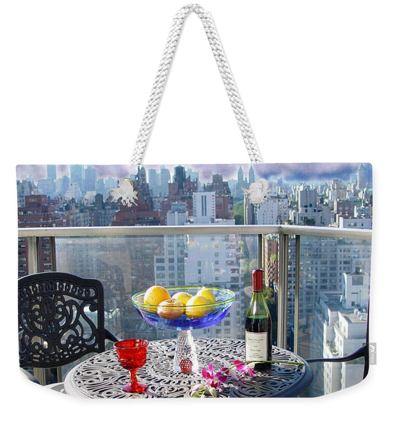 Terrace Weekender Tote Bag featuring the photograph View From The Terrace by Madeline Ellis