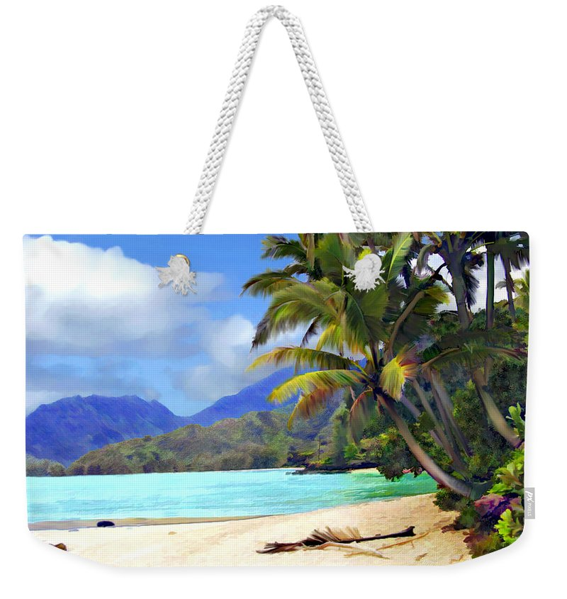 Hawaii Weekender Tote Bag featuring the photograph View From Waicocos by Kurt Van Wagner