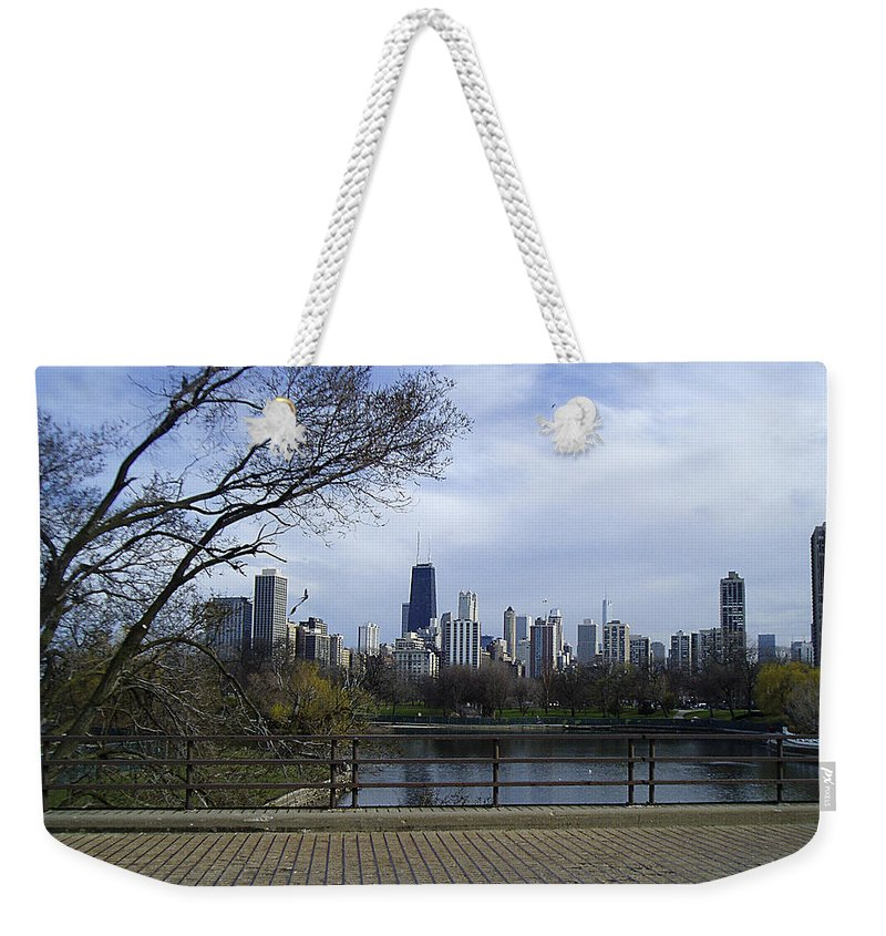Chicago Weekender Tote Bag featuring the photograph View Of Chicago by Verana Stark
