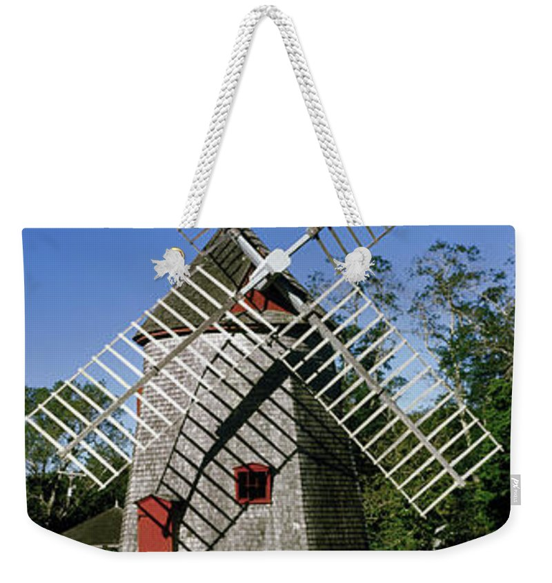 Photography Weekender Tote Bag featuring the photograph View Of Eastham Windmill, Eastham, Cape by Panoramic Images
