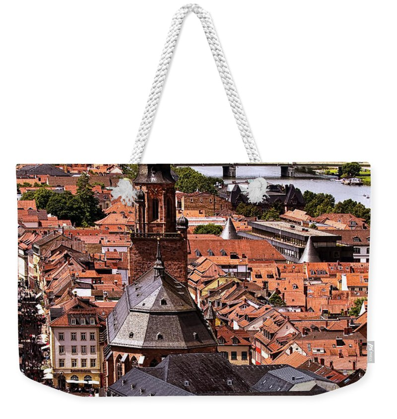 Architecture Weekender Tote Bag featuring the photograph View Of Heidelberg by Marcia Colelli