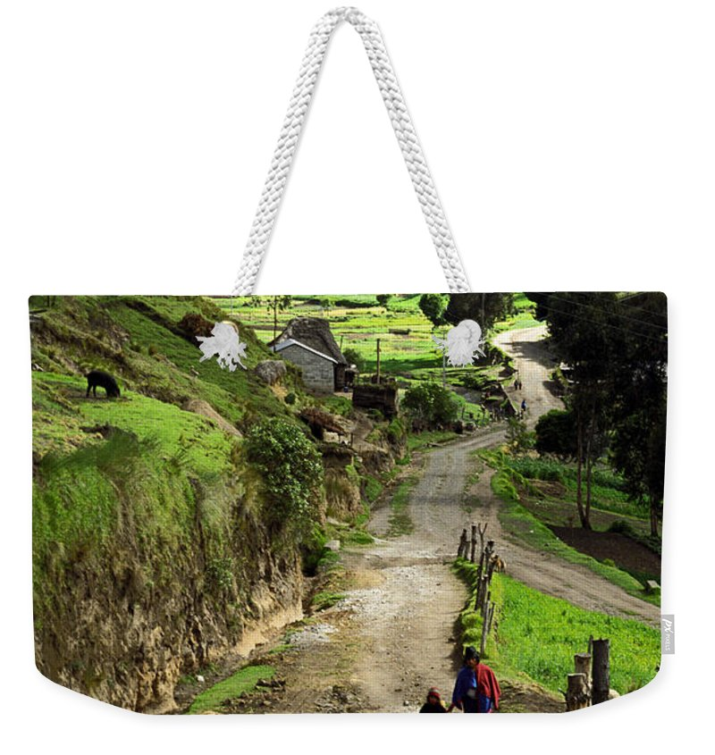 Ecuador Weekender Tote Bag featuring the photograph View Of Lupaxi by Kathy McClure