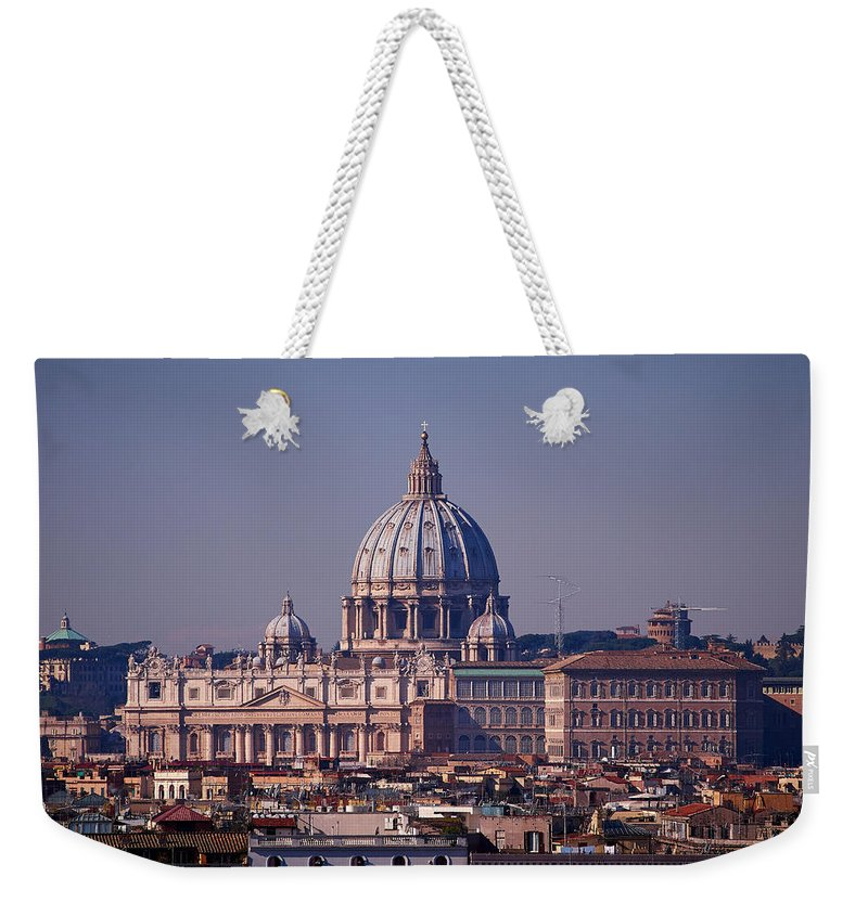 Lehto Weekender Tote Bag featuring the photograph View Of Rome 2013 by Jouko Lehto